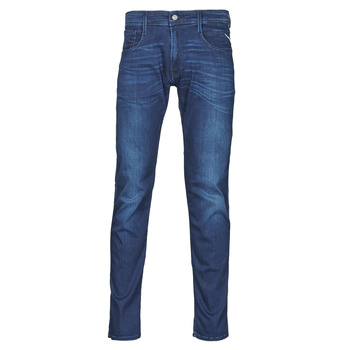 Clothing Men Slim jeans Replay ANBASS Pants Blue / Medium