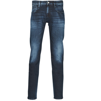 Clothing Men Slim jeans Replay ANBASS Pants Blue / Dark