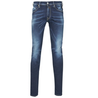 Clothing Men Skinny jeans Replay JONDRILL HYPERFLEX Blue / Dark