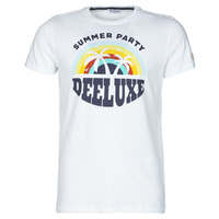 Clothing Men Short-sleeved t-shirts Deeluxe PARTY White / Multicolour