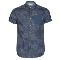 Clothing Men Short-sleeved shirts Deeluxe ETHNIC Marine