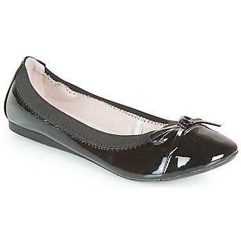Shoes Women Flat shoes Moony Mood ELALA Varnish / Black