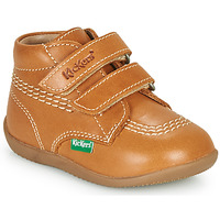 Shoes Boy Hi top trainers Kickers BILLY VELK-2 Camel