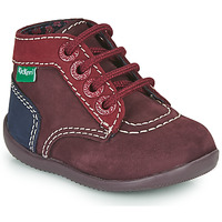 Shoes Girl Mid boots Kickers BONBON-2 Purple / Red / Marine