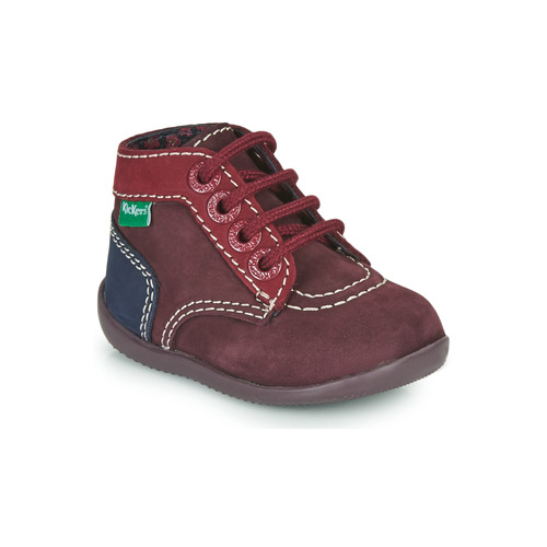 Shoes Girl Mid boots Kickers BONBON-2 Purple / Red / Marine