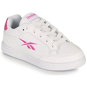 Shoes Girl Low top trainers Reebok Classic REEBOK ROYAL VECTOR SMASH White / Pink