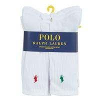 Shoe accessories Men Socks Polo Ralph Lauren ASX110 6 PACK COTTON White