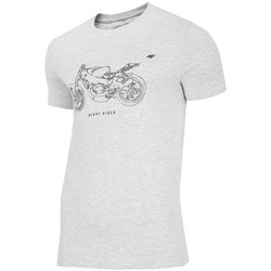 Clothing Men Short-sleeved t-shirts 4F TSM012 Grey
