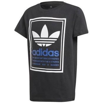 Clothing Children Short-sleeved t-shirts adidas Originals Graphic Tee Black
