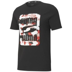 Clothing Men Short-sleeved t-shirts Puma Rebel Camo Graphic Tee Black