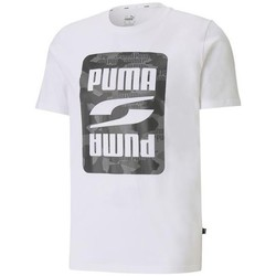 Clothing Men Short-sleeved t-shirts Puma Rebel Camo Graphic Tee White