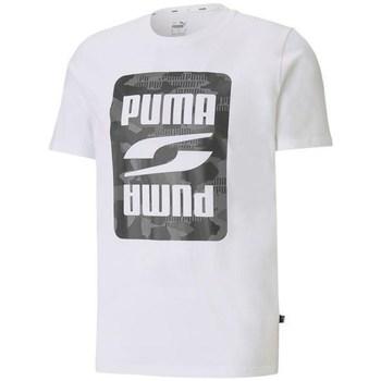 Clothing Men Short-sleeved t-shirts Puma Rebel Camo Graphic Tee White