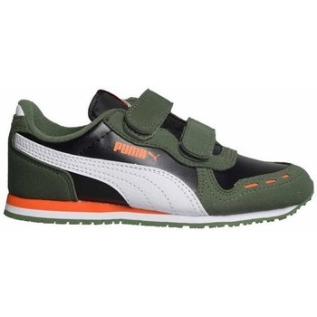Shoes Children Low top trainers Puma Cabana Racer SL V PS Black,Green