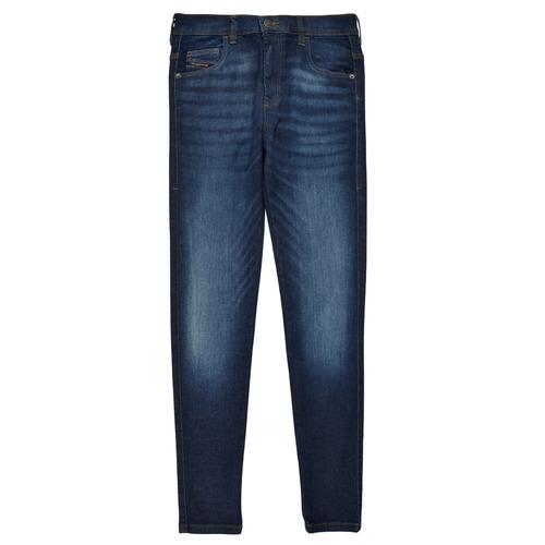Clothing Girl Skinny jeans Diesel D-SLANDY HIGH Blue