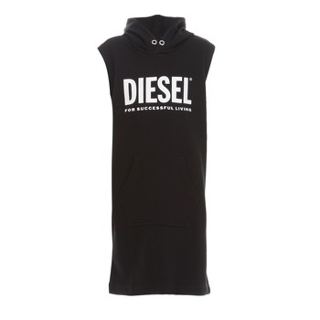 Clothing Girl Short Dresses Diesel DILSET Black