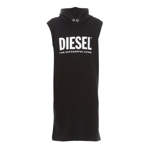 Clothing Girl Short Dresses Diesel DILSET Black