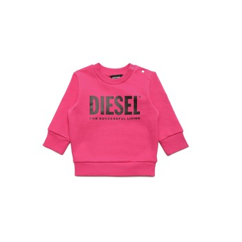 Clothing Girl Sweaters Diesel SCREWDIVISION LOGOB Pink