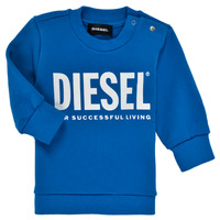 Clothing Boy Sweaters Diesel SCREWDIVISION LOGOB Blue