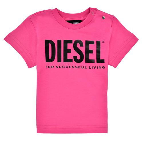 Clothing Girl Short-sleeved t-shirts Diesel TJUSTLOGOB Pink