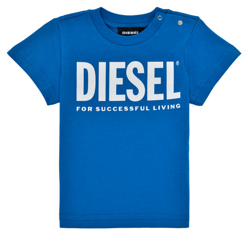 Clothing Boy Short-sleeved t-shirts Diesel TJUSTLOGOB Blue