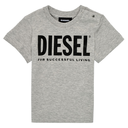 Clothing Children Short-sleeved t-shirts Diesel TJUSTLOGOB Grey
