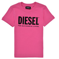 Clothing Girl Short-sleeved t-shirts Diesel TJUSTLOGOB Pink