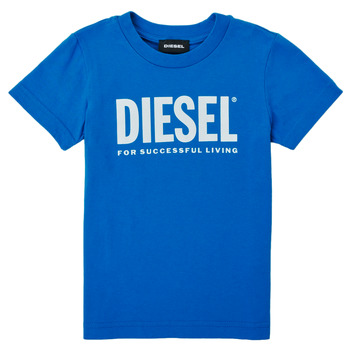 Clothing Boy Short-sleeved t-shirts Diesel TJUSTLOGOB Blue