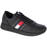 Shoes Men Running shoes Tommy Hilfiger Flexi Perf Leather Runner Black