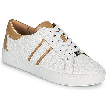 Shoes Women Low top trainers MICHAEL Michael Kors KEATON White / Camel