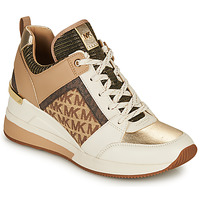 Shoes Women Low top trainers MICHAEL Michael Kors GEORGIE Beige / Camel / Gold