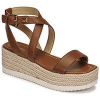 Shoes Women Sandals MICHAEL Michael Kors LOWRY WEDGE Cognac