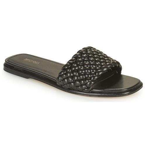 Shoes Women Mules MICHAEL Michael Kors AMELIA FLAT SANDAL Black