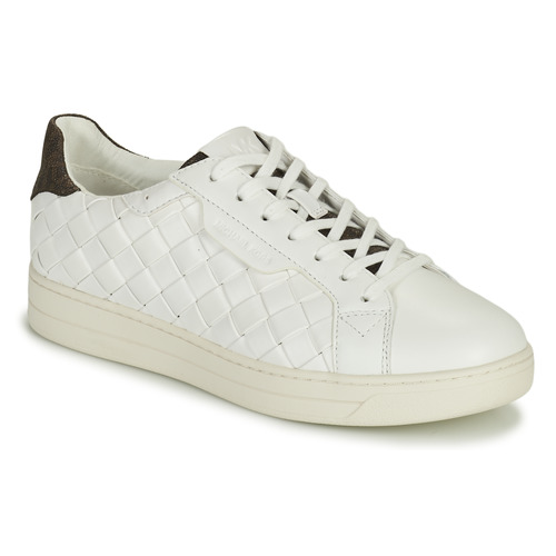 Shoes Women Low top trainers MICHAEL Michael Kors KEATING LACE UP White / Brown