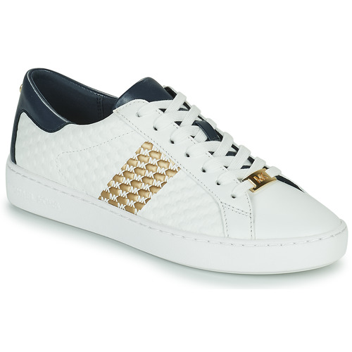 Shoes Women Low top trainers MICHAEL Michael Kors COLBY SNEAKER White / Gold / Marine