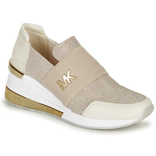 Shoes Women Low top trainers MICHAEL Michael Kors FELIX TRAINER EXTREME Champagne
