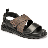 Shoes Men Sandals MICHAEL Michael Kors DAMON SLIDE Black / Brown