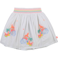 Clothing Girl Skirts Billieblush U13275-10B White