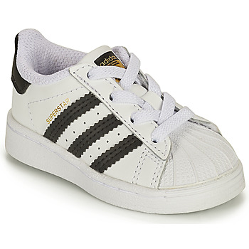 Shoes Children Low top trainers adidas Originals SUPERSTAR EL I White / Black