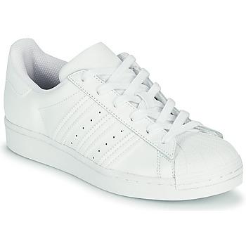 Shoes Children Low top trainers adidas Originals SUPERSTAR J White
