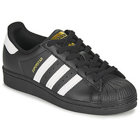 Shoes Children Low top trainers adidas Originals SUPERSTAR J Black / White