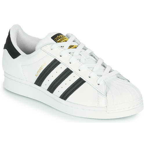 Shoes Children Low top trainers adidas Originals SUPERSTAR J White / Black