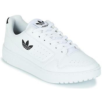 Shoes Children Low top trainers adidas Originals NY 92 J White / Black