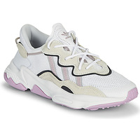 Shoes Women Low top trainers adidas Originals OZWEEGO W White / Beige / Purple