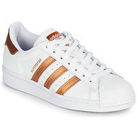 Shoes Women Low top trainers adidas Originals SUPERSTAR W White / Bronze