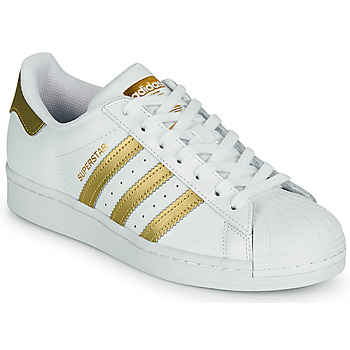 Shoes Women Low top trainers adidas Originals SUPERSTAR W White / Gold
