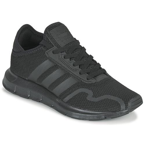 Shoes Children Low top trainers adidas Originals SWIFT RUN X J Black