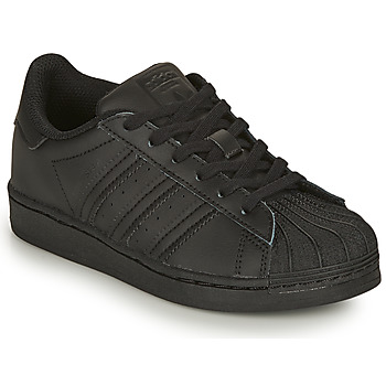 Shoes Children Low top trainers adidas Originals SUPERSTAR C Black