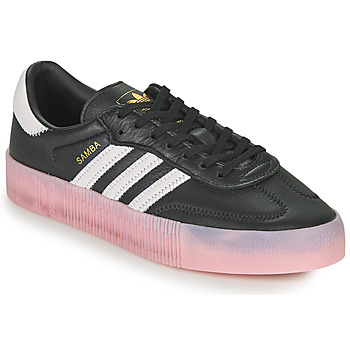 Shoes Women Low top trainers adidas Originals SAMBAROSE W Black / Pink