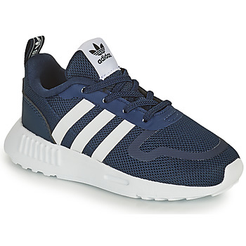 Shoes Children Low top trainers adidas Originals SMOOTH RUNNER EL I Marine / White