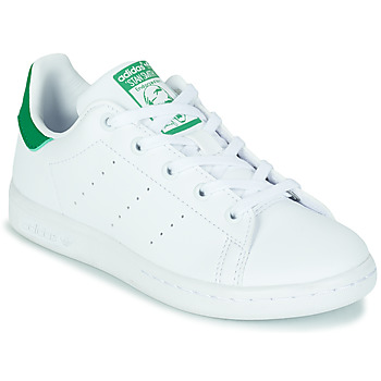 Shoes Children Low top trainers adidas Originals STAN SMITH C SUSTAINABLE White / Green